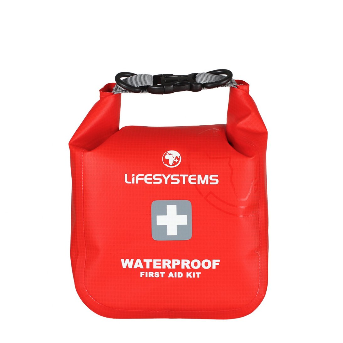 Red waterproof first aid kit