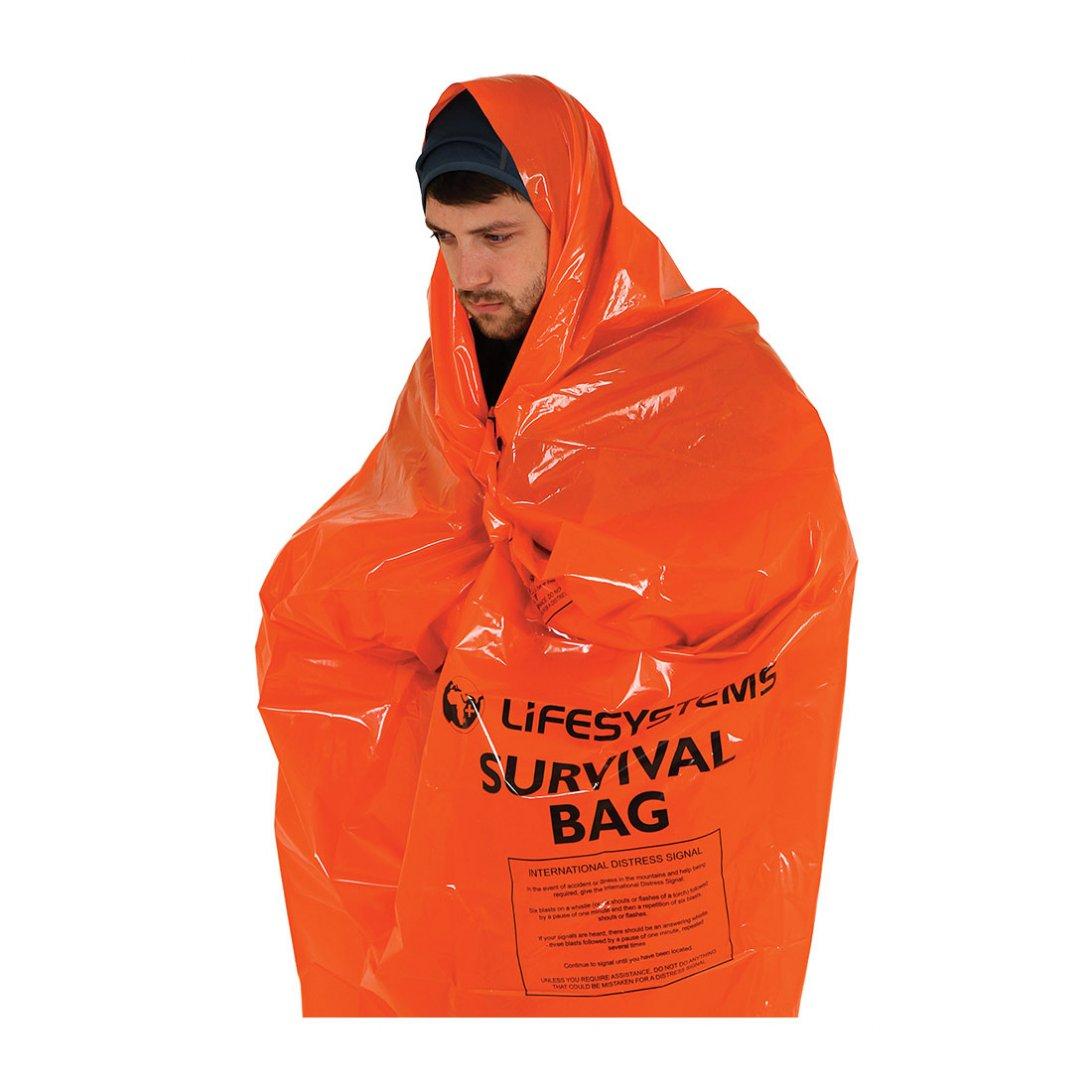Orange survival bag