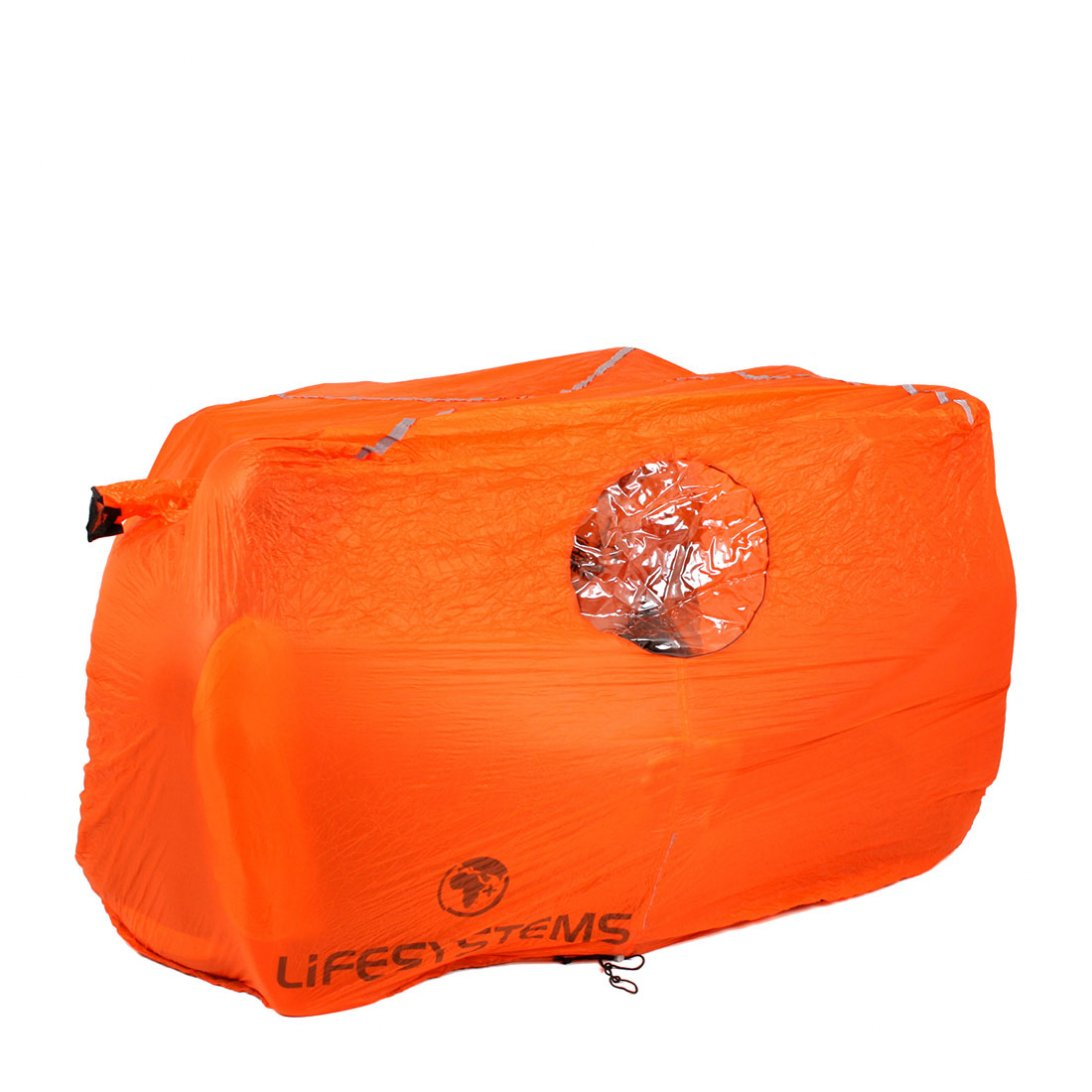 Orange storm shelter