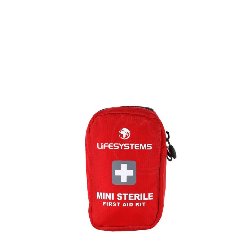Red mini first aid kit