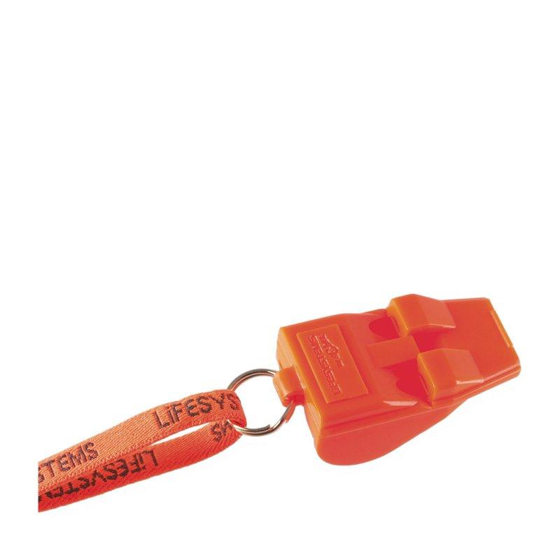 Orange survival whistle