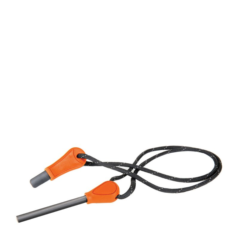 Grey and orange camping fire starter