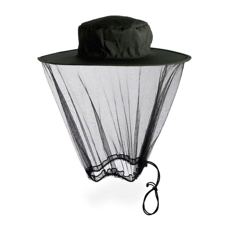 Midge net for head with hanging mesh