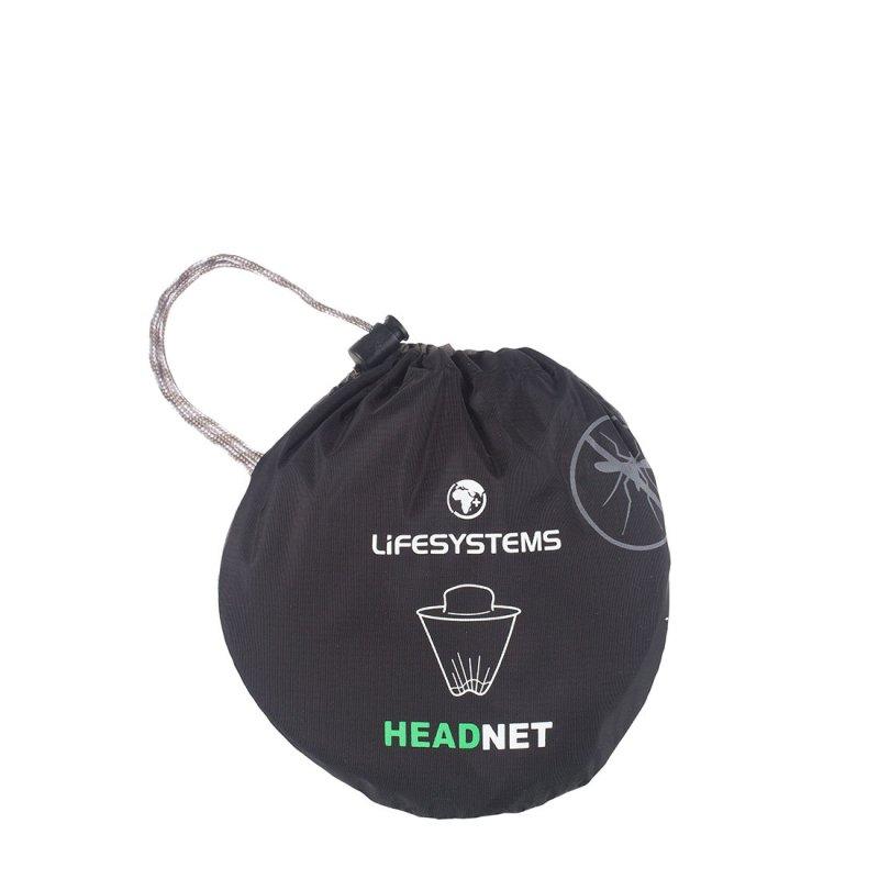 Midge net for head with hanging mesh bag