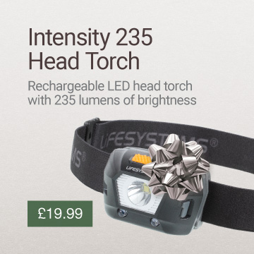 Intensity 235 LED Head Torch Christmas Gift Idea Banner